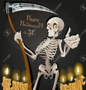 15113346-la-mort-est-un-squelette-avec-une-faux-invitation-de-fête-d-halloween
